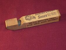 Vintage Buster Brown Shoe Promotion Toy Wooden Whistle Advertising