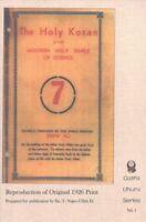 Holy Koran of the Moorish Holy Temple of Science, Paperback by Ali, Drew, ISB...