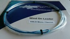 1X 100lbs wind-on leader 23 feet long. hand made by H2Opro