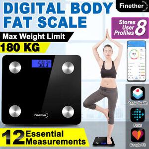 BT Bathroom Scales Weight Scale Smart Body Fat Bone BMI Digital LCD 400lb/180kg