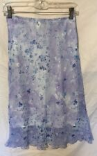 Star City Women's Blue/Purple Floral mid-length Skirt, NWTs