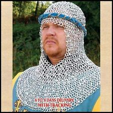 Aluminium Riveted Chainmail Coif For Sale Chain Mail Coif Hood Knight Clothing