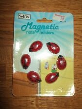 Nip Vintage 1982 selfix woolworth Ladybug Refrigerator Magnets 6 red hong kong
