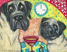 Mastiff Pug Pop Art Giclee Print 8x10 Signed Artist Kimberly Helgeson Sams Dogs