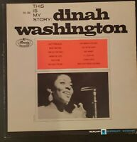 Dinah Washington This Is My Story Vol 1 VG+ MERCURY STEREO DG
