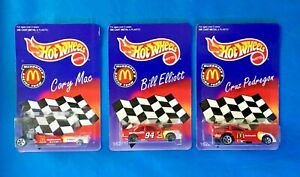 1996 McDonald's Racing Team 3 Cars Elliott McClenathan Pedregon NASCAR NHRA 1:64