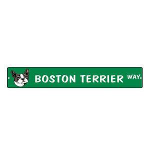 Aluminum Weatherproof Road Street Signs Boston Terrier Dog Way Home Decor Wall