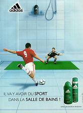 Publicité Advertising 2001  ADIDAS  gel douche et déodorant pour homme