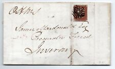 1843 entire O.H.M.S with 1d red cancelled with a special Greenock Maltese cross