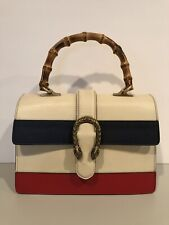 f372a57b7f4a81 Gucci Dionysus Bag Medium Bamboo Top Handle White Blue Red Leather 448075  $3400