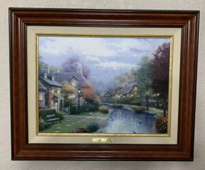 """FRAMED Thomas Kinkade LAMPLIGHT BROOKE Classic First Edition Limited 12""""x16 1998"""