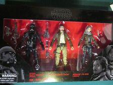 Star Wars Black Series Jyn Erso Cassian Andor Death Trooper 3 Pack NIB