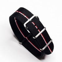 Durable 22mm One-Piece Ferrari Inspired Racing Colors Strap Nylon Watch Band