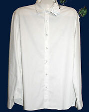 Love Moschino Off White Dress Men's Shirt Size 2XL Fit Small Thin Cotton NEW
