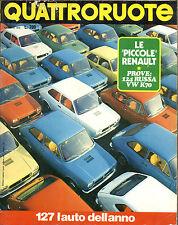 QUATTRORUOTE N° 193 - GENNAIO 1972 - VOLKSWAGEN K70 - TOLEDO 1500 TC - RENAULT