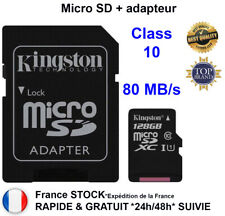 Carte mémoire SD Micro SD 32 64 128 Go Class 10 TF Flash SDHC Téléphone Kingston