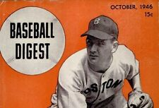 Vintage Baseball Digest magazine collection History 1945-1954 Card on DVD CD