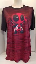 Baby Deadpool T-Shirt Red Black Stripes Polyester