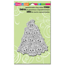 STAMPENDOUS RUBBER STAMPS CLING CAT TREE NEW cling STAMP CHRISTMAS