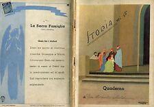 QUADERNO GESU' SACRA FAMIGLIA 1938 TATO (Guglielmo Sansoni) FUTURISMO