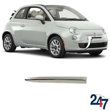 FRONT BUMPER UPPER CHROME MOLDING TRIM RIGHT COMPATIBLE WITH FIAT 500 2007-2015