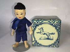 Antique Tin Candy/Tea/Bisque Box with Cloth Doll