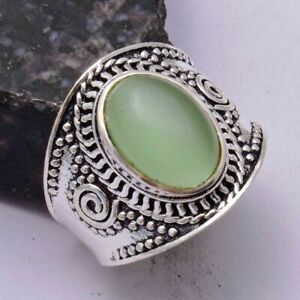 Green Onyx Ethnic Handmade Ring Jewelry US Size-9 AR 42001