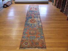 2.2 x 12 Decorative Antique Serapi Narrow Runner Rug