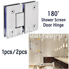 180° Stainless Steel Glass to Glass Shower Door Hinge Bracket Solid Casting