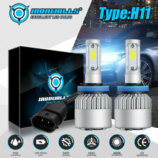 Ironwalls H11 Led Headlight Super Bright Bulbs Kit 300000lm Hilo Beam 6000k New