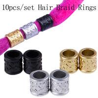 10pcs Dreadlock Hair Braid Ring Beads Dreadlocks Cuff Clip Hair Accessory UQ