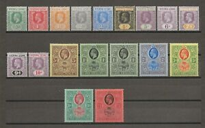 SIERRA LEONE 1912-21 SG 112/28 MINT Cat £370