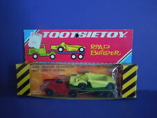 SUPER RARE NEW IN PACKAGE VINTAGE TOOTSIETOY ROAD BUILDER,TRAILER,EARTH MOVER +