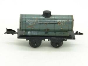 Fandor O Gauge Tin Litho 4 Wheel R & Co Tank Car 6741 Complete