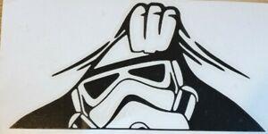 1x Storm Trooper Peeper Star Wars Vinyl Sticker Decal Graphic Window Van Black