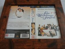 Vhs sleeve framed mounted covers small box original four weddings and a funeral