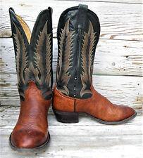 Men's TONY LAMA Style 5693 Cognac Aztec Shrunken Shoulder Cowboy Boots 9D USA Md