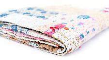 Indian Vintage Ethnic Sari Kantha Throws Bedspread Patchwork Silk Patola Quilt
