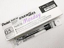 12 x Pentel Energel LR5-A 0.5mm Extra Fine Roller Ball Pen Only Refills, BLACK