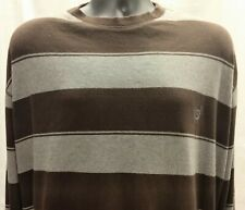 Men's 4XB CHAPS Brown Gray Striped PullOver Cotton Shirt    B5