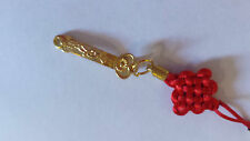 BNIP Prosperity Scepter Granter of Wishes Ruyi Abundance Charm 10cm Gold tone