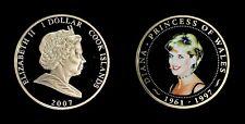 2007 Cook Islands 1 Dollar - Diana Commemorative DCAM Proof (Colorized)