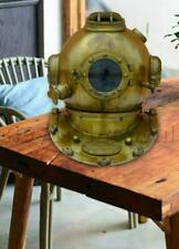 Antique Morse Nautical Vintage Diving Divers Helmet Mark V Scuba Brass Boston
