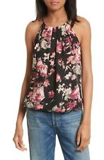 JOIE Anatase C Floral Print Sleeveless Silk Top, XSmall