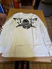 Mens Skull Black n White Long sleeve T-shirt Size 2XL