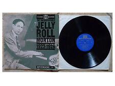 THE INCOMPARABLE JELLY ROLL MORTON 1923-1226 * UK  VINYL LP RIVERSIDE RLP 8816