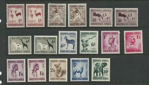 1954 South West Africa Rock Carvings, Natives and Animals Complete MUH/MNH