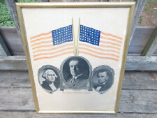 1916 Woodrow Wilson Stars and Stripes Forever Campaign Poster