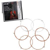 6Pcs/Set  IRIN A103 0.012-0.053 Inch Phosphor Bronze Acoustic Guitar Core String