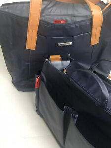 Storksak Diaper Bag Noa Coated Canvas With Mini Organizer Infant-Toddlers Blue